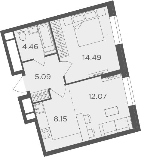 2Е-к.кв, 44.26 м²