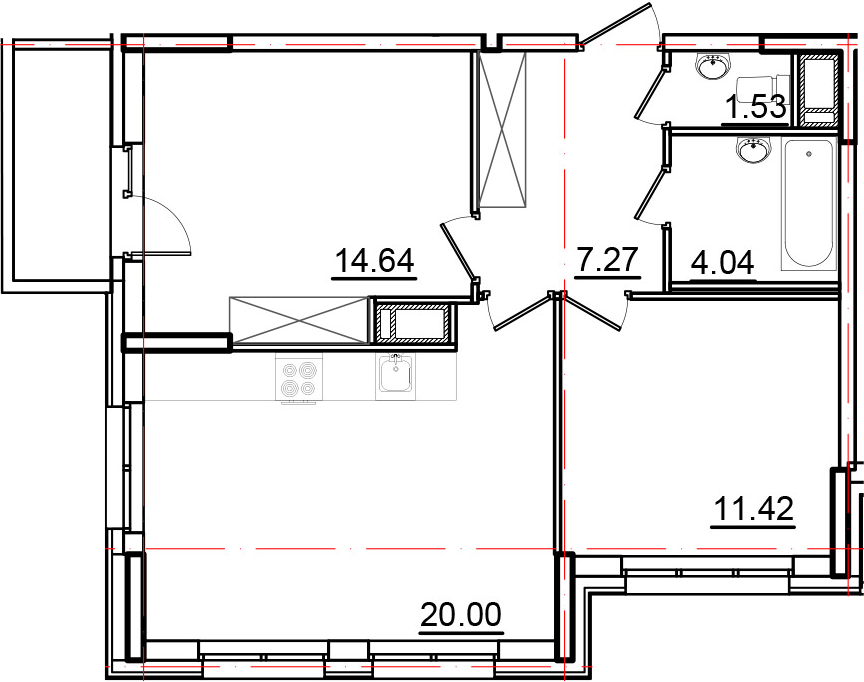 3Е-к.кв, 59.94 м², от 11 этажа