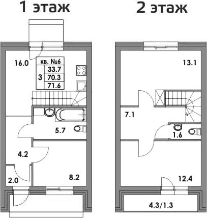 Таунхаусы, 82.27 м²
