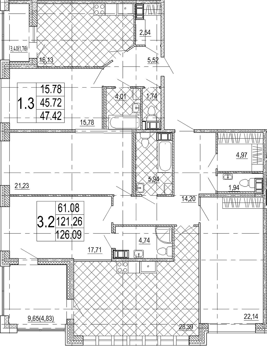 5Е-комнатная, 173.51 м²– 2