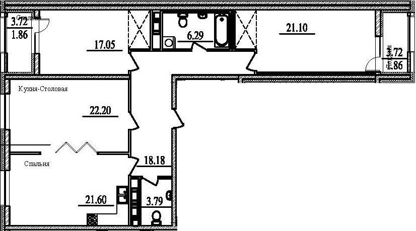 3-к.кв, 117.65 м²