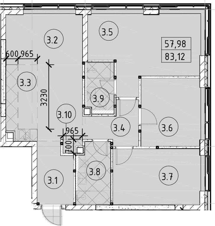 4Е-комнатная, 83.12 м²– 2