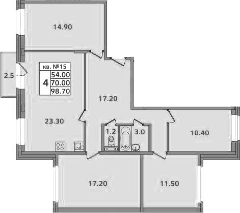 4-к.кв, 101.2 м²
