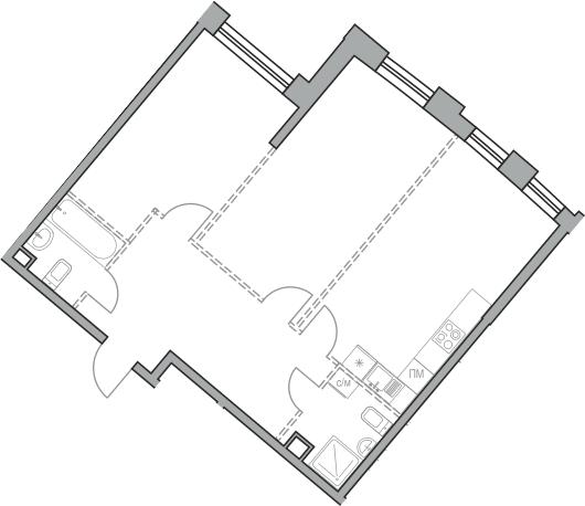 Свободная планировка, 71.24 м²– 2