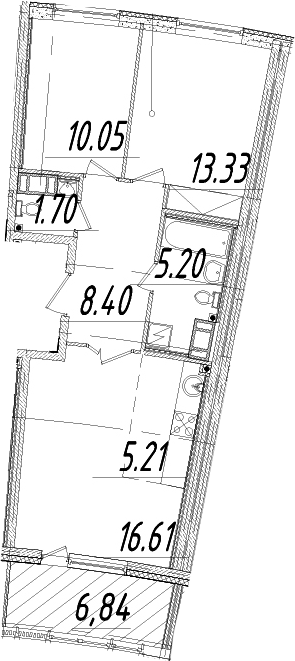 3Е-комнатная, 63.92 м²– 2