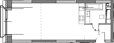 Студия, 40.11 м²– 2