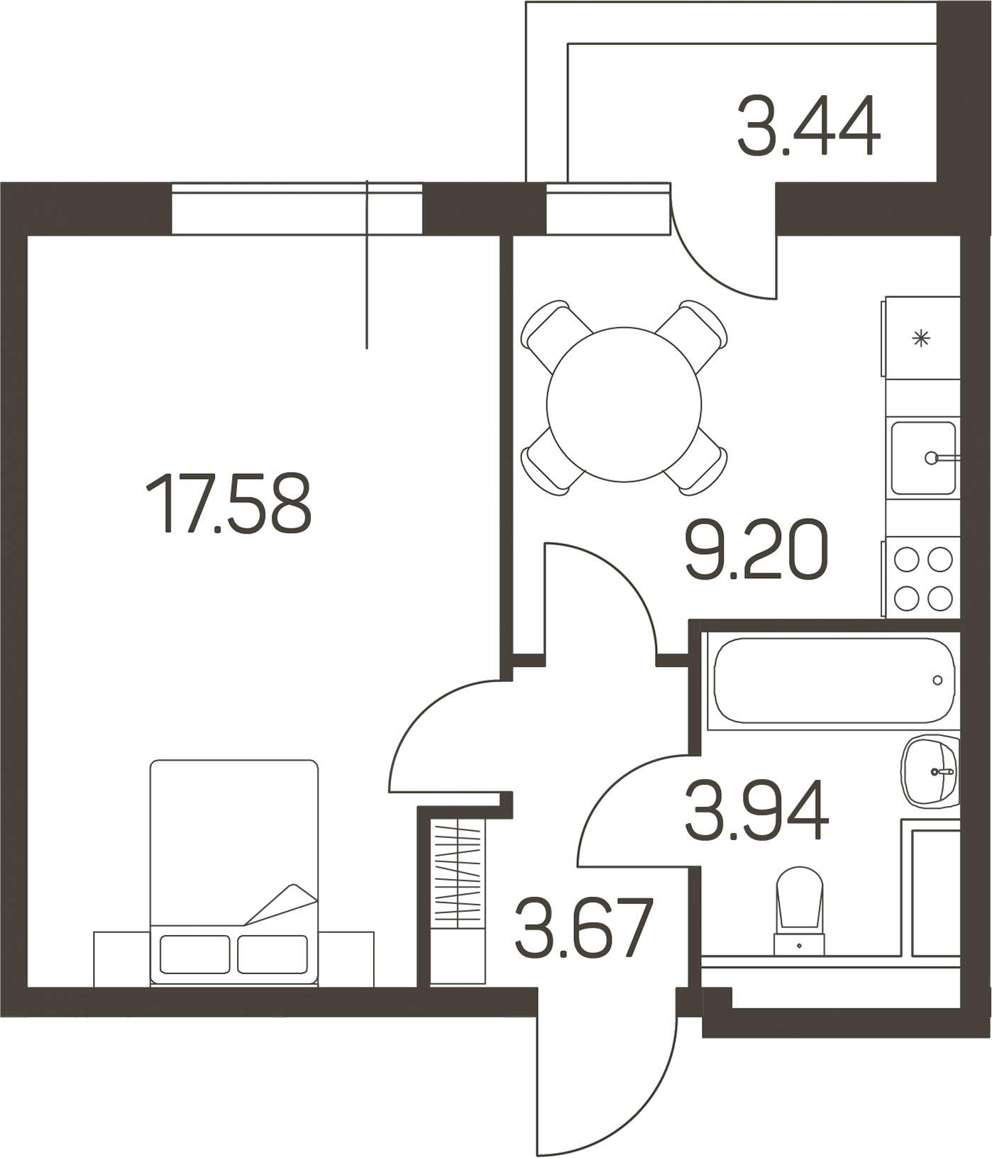 1-к.кв, 36.11 м²