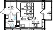 Студия, 26.41 м²