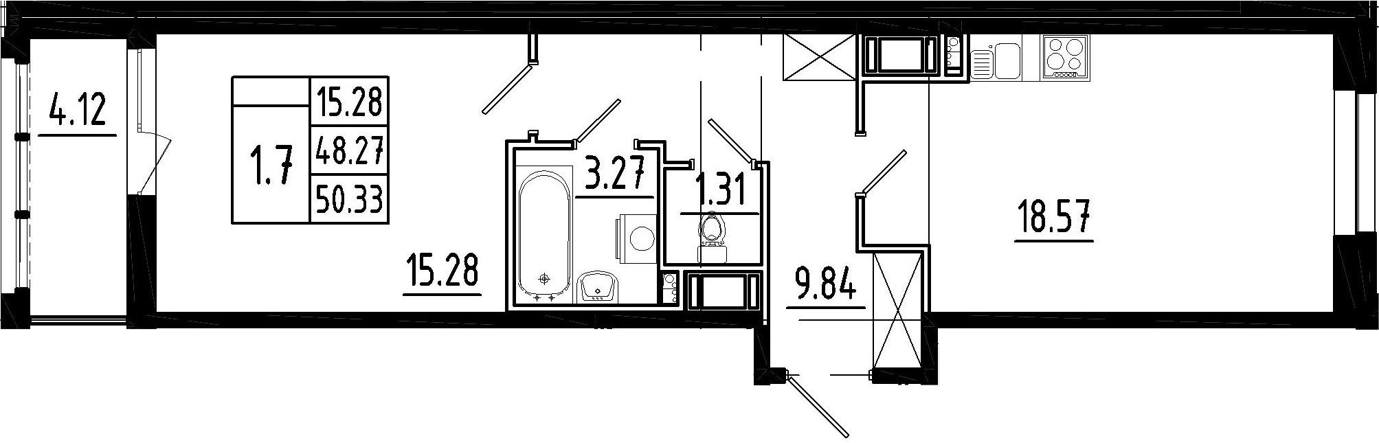 2Е-к.кв, 48.27 м²