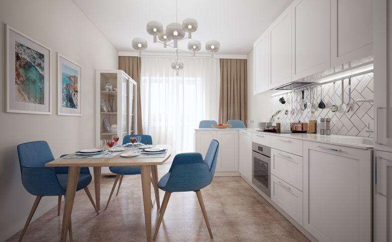 3Е-комнатная квартира, 57.7 м², 6 этаж – 4