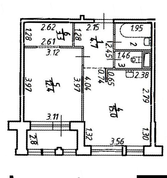1-к.кв, 42.4 м²