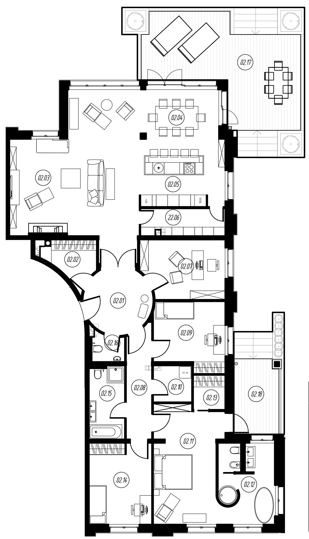 5Е-к.кв, 186.16 м²