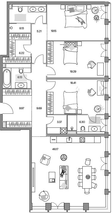 4-к.кв (евро), 155.81 м²