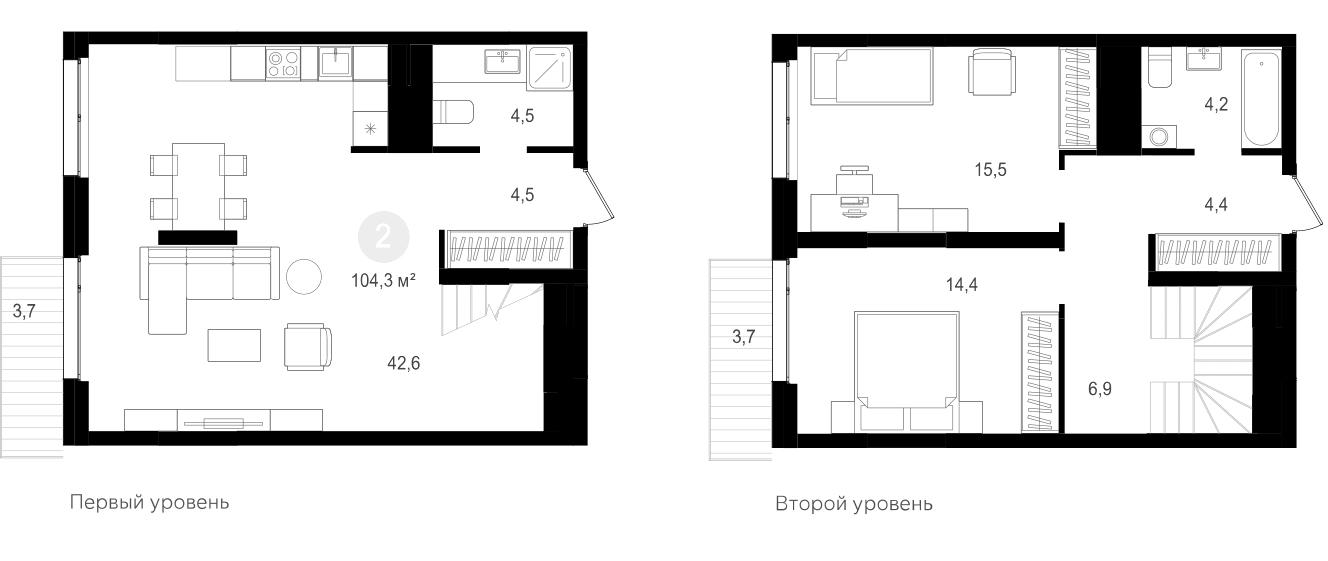 3-к.кв (евро), 121.56 м²