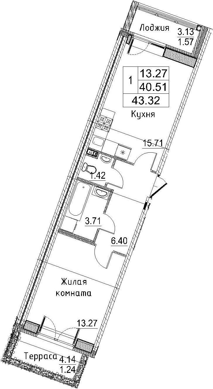 2-к.кв (евро), 47.78 м²
