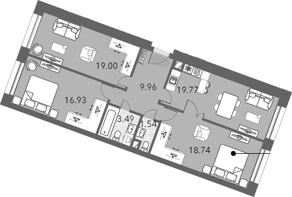 4Е-комнатная, 89.43 м²– 2
