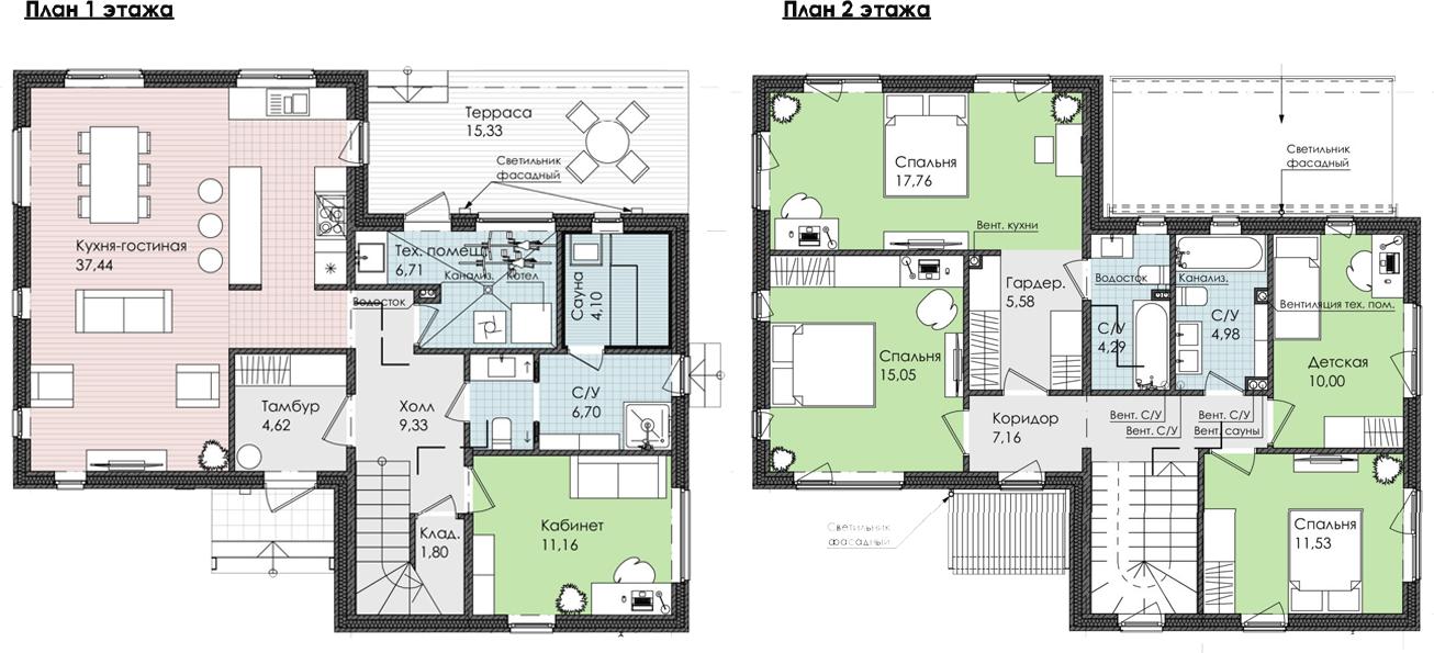Коттедж, 173.54 м²– 2