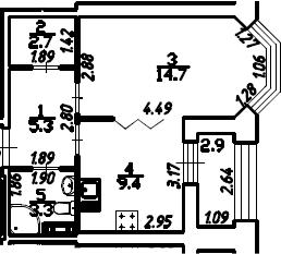 1-к.кв, 36.9 м², 13 этаж