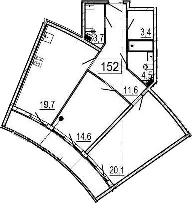 3-к.кв (евро), 88 м²