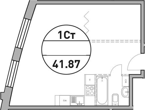 Своб. план., 41.87 м²