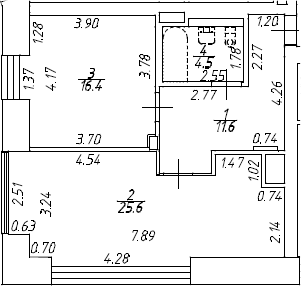 2Е-к.кв, 58.1 м², 8 этаж