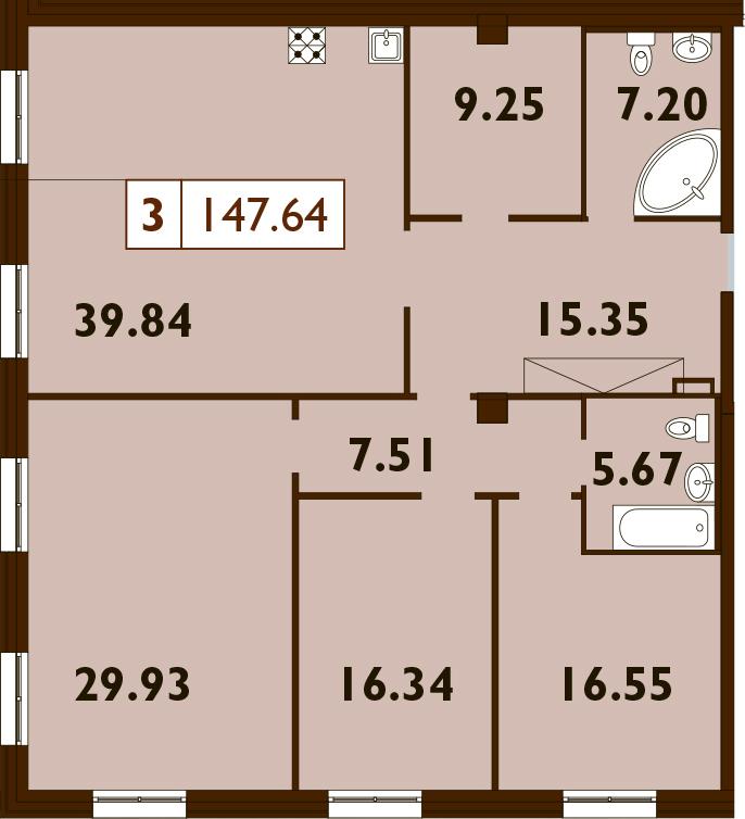 4Е-к.кв, 147.64 м²