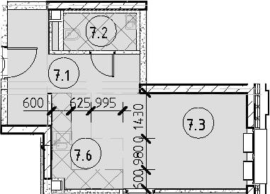 2Е-к.кв, 50.39 м²