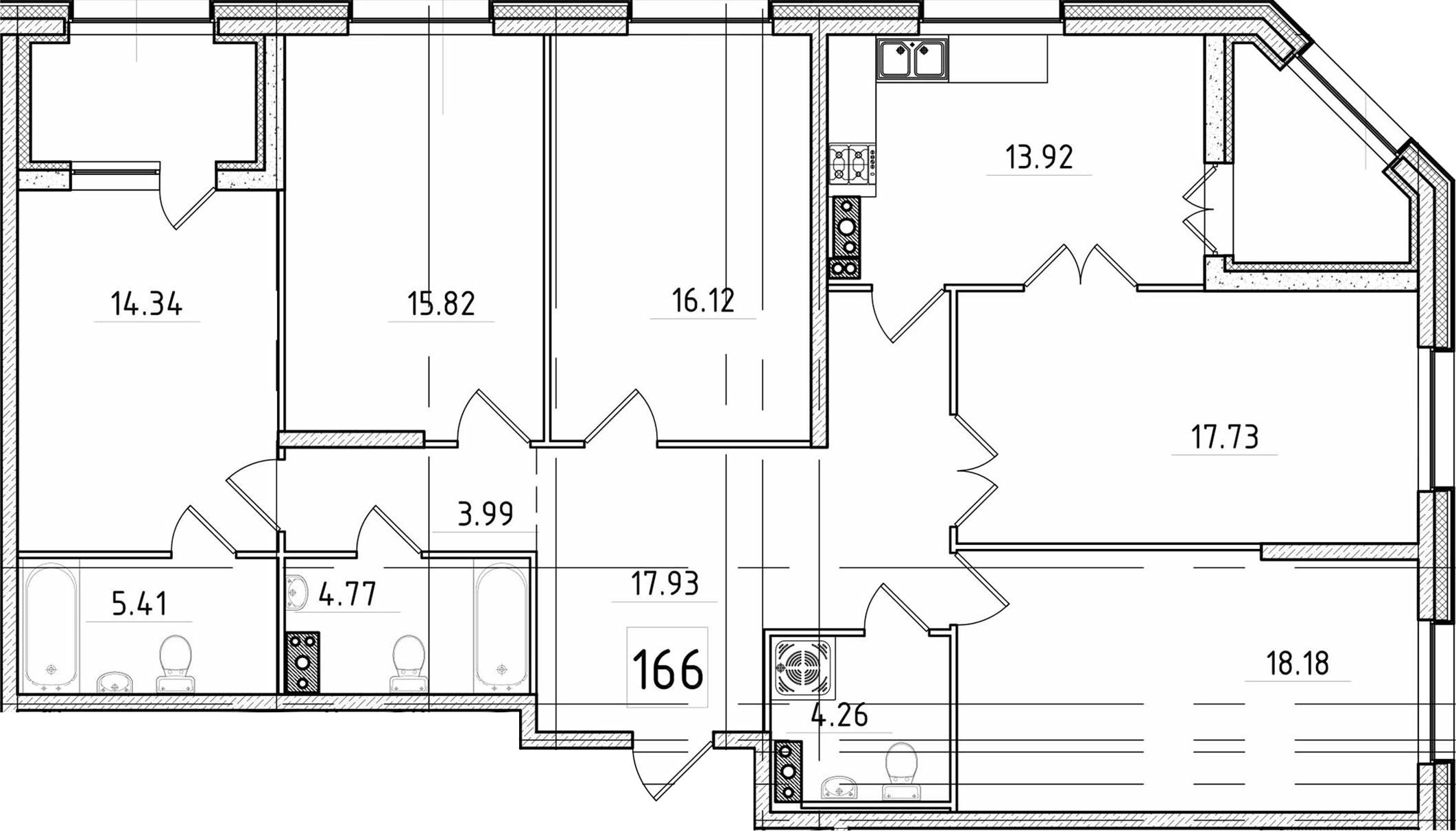 5-к.кв, 136.76 м²