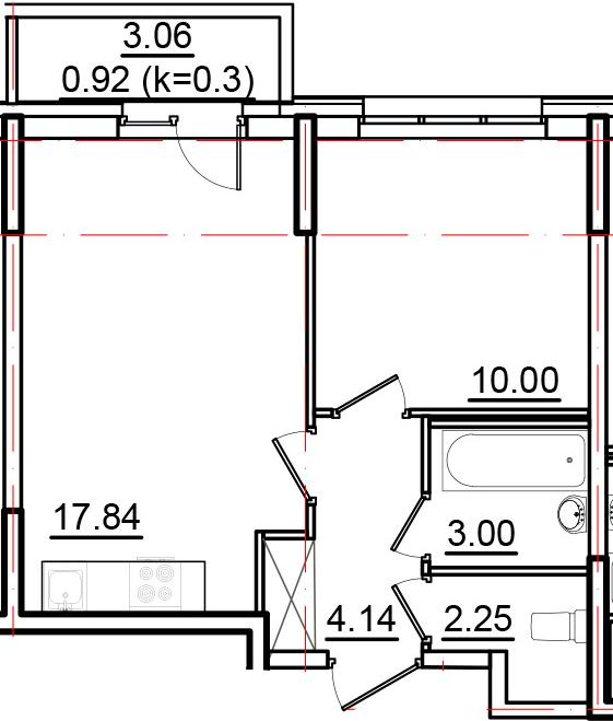 2Е-к.кв, 38.15 м²