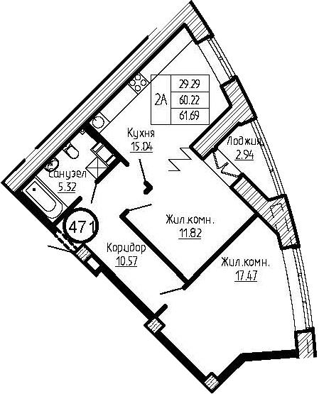 3-к.кв (евро), 63.16 м²