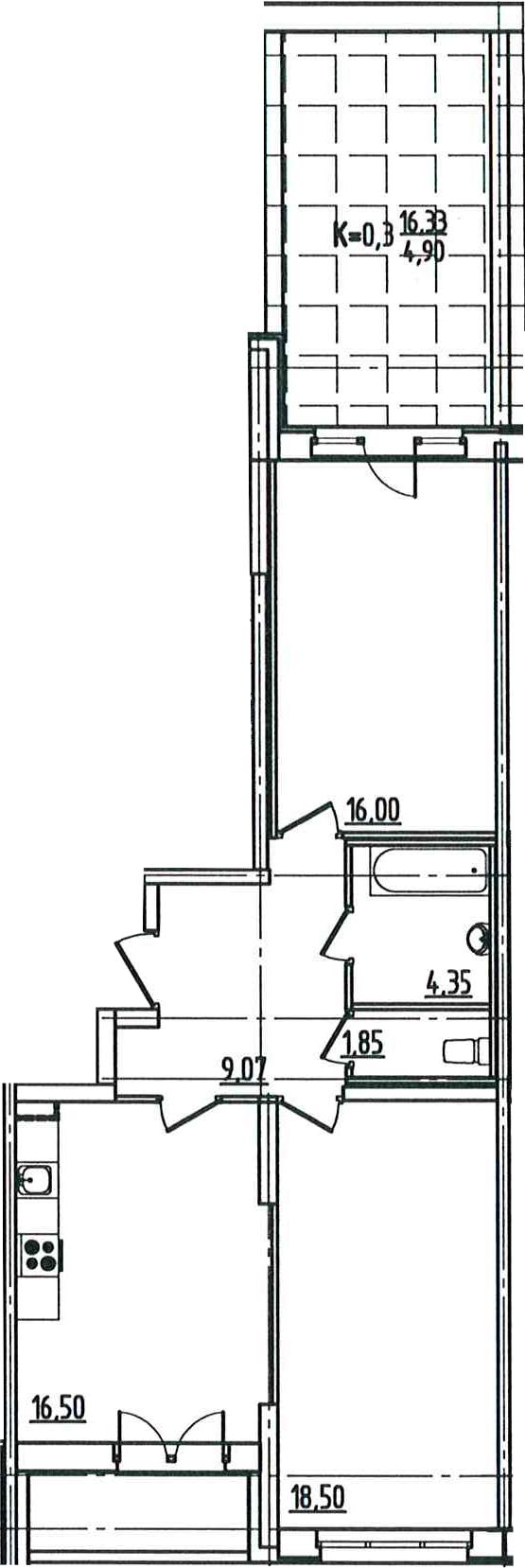 3-к.кв (евро), 86.02 м²