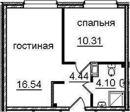 2-к.кв (евро), 35.39 м²