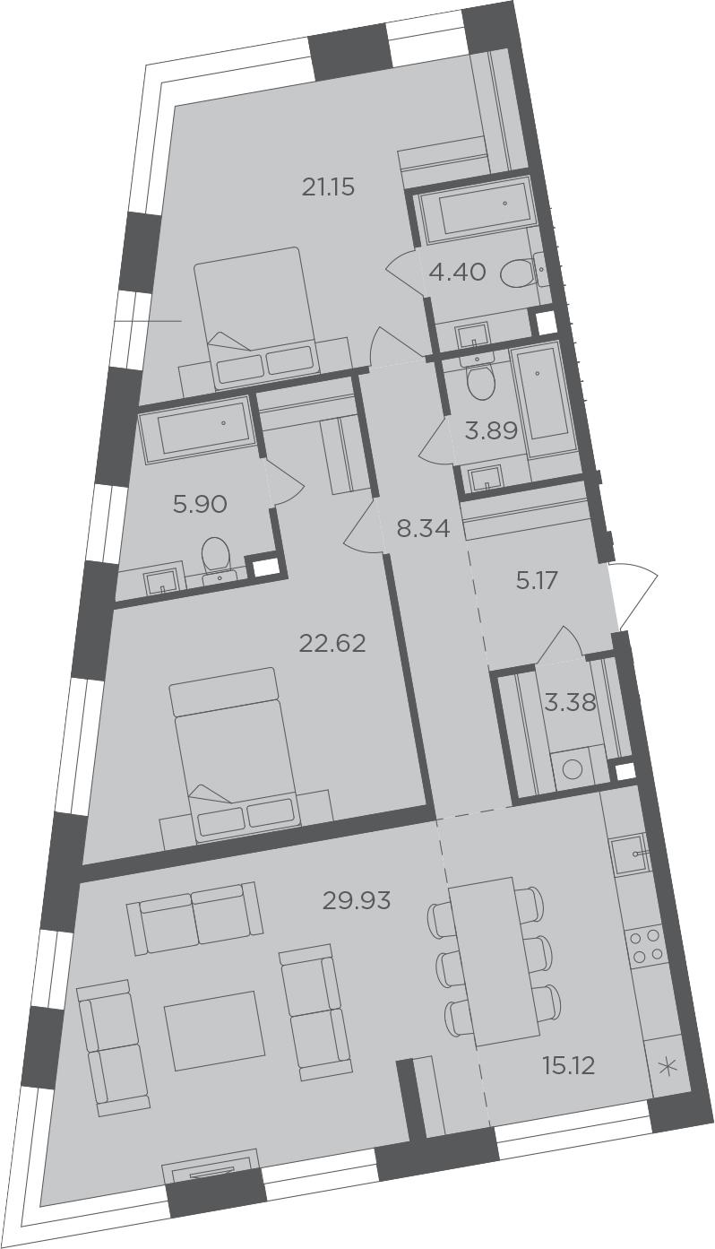 3-к.кв, 119.9 м²