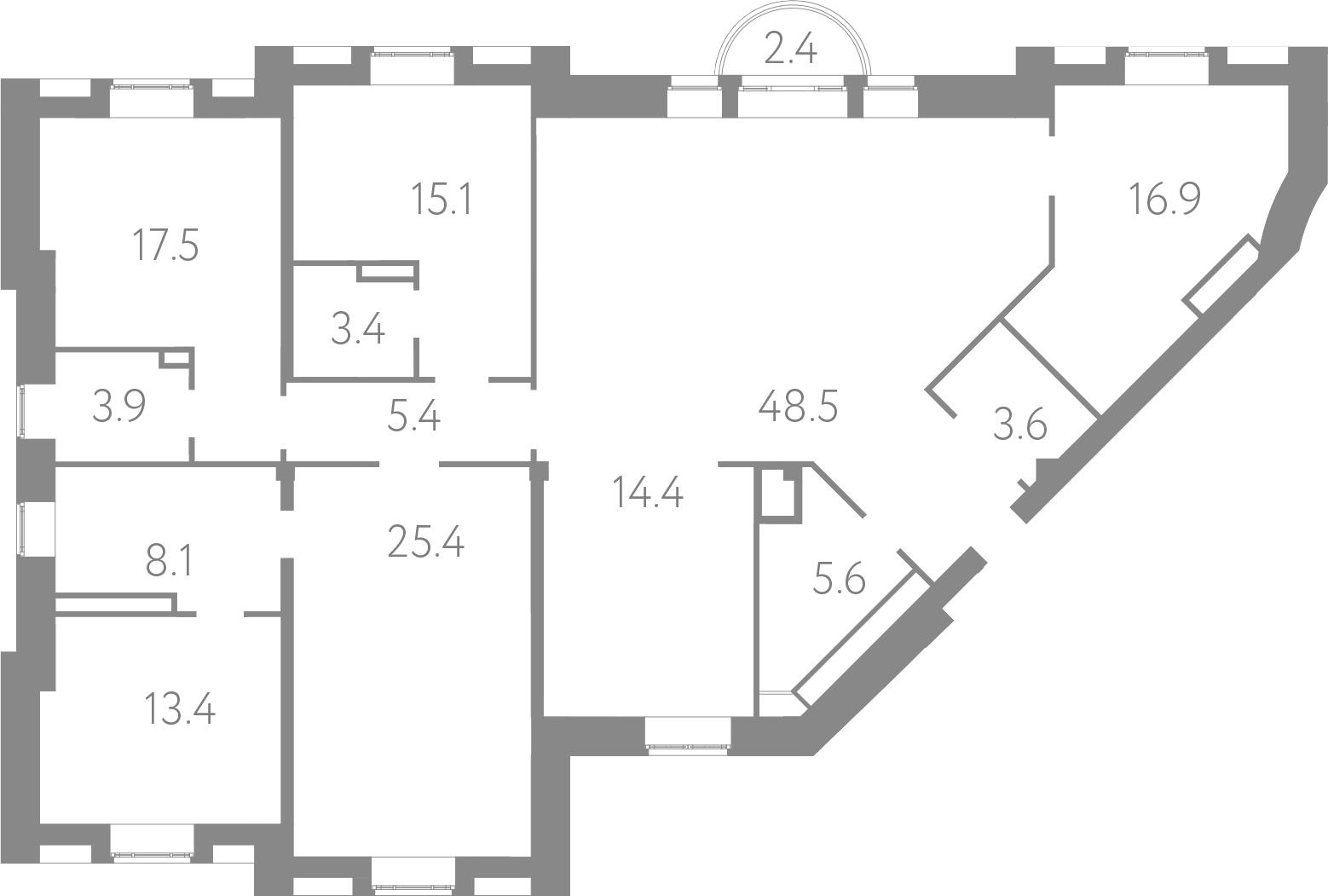 5-комнатная, 181.2 м²– 2