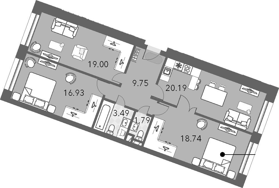 4-к.кв (евро), 89.89 м²