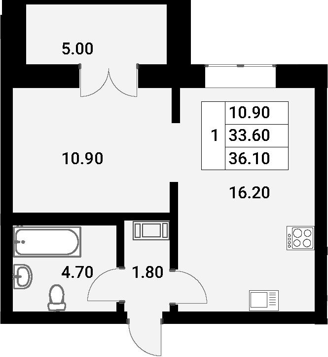 2Е-к.кв, 36.1 м²
