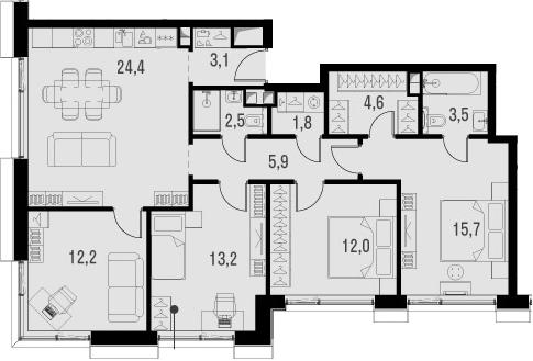 5Е-к.кв, 98.9 м²