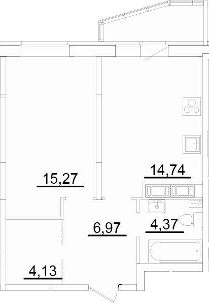 2Е-к.кв, 46.47 м²