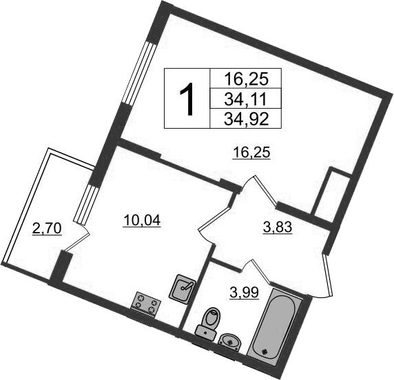 1-к.кв, 36.81 м²