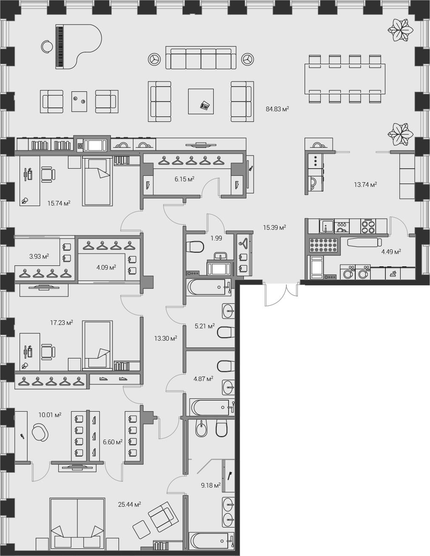4Е-комнатная, 242.19 м²– 2
