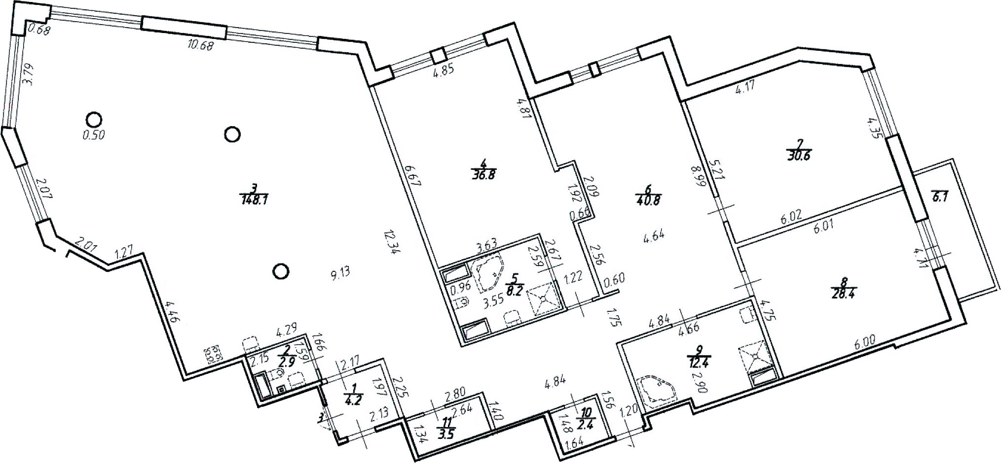 4-к.кв (евро), 324.3 м²