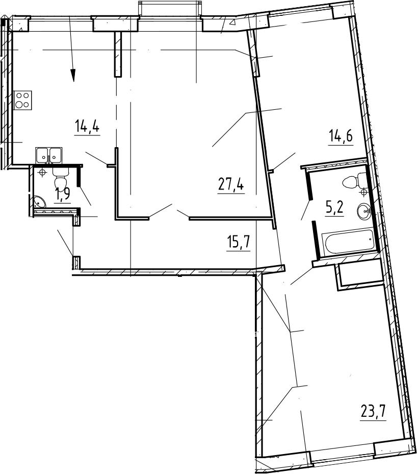 3-к.кв, 102.9 м²