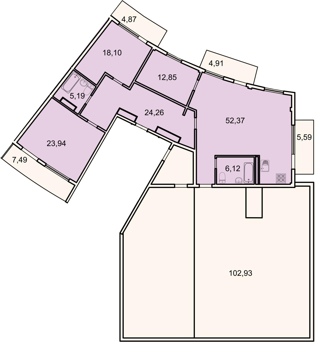 4Е-комнатная, 149.7 м²– 2