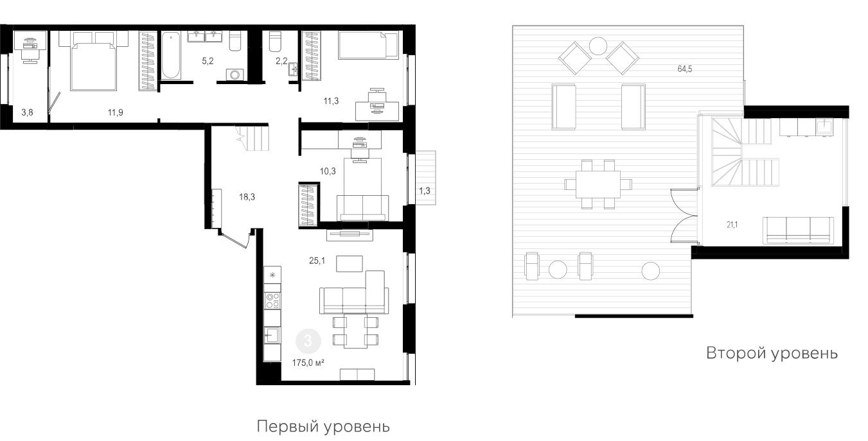4Е-к.кв, 175 м²