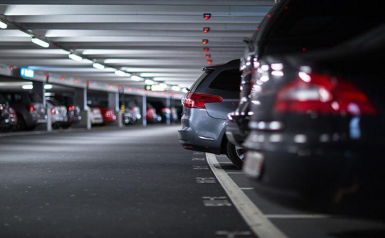 Наземный трехуровневый паркинг