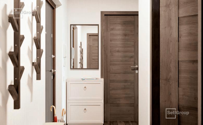 2Е-комнатная квартира, 35.06 м², 4 этаж – 9