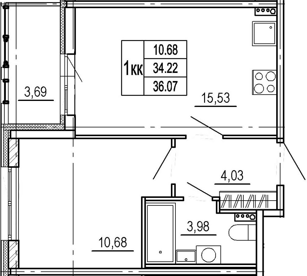 2-к.кв (евро), 37.91 м²