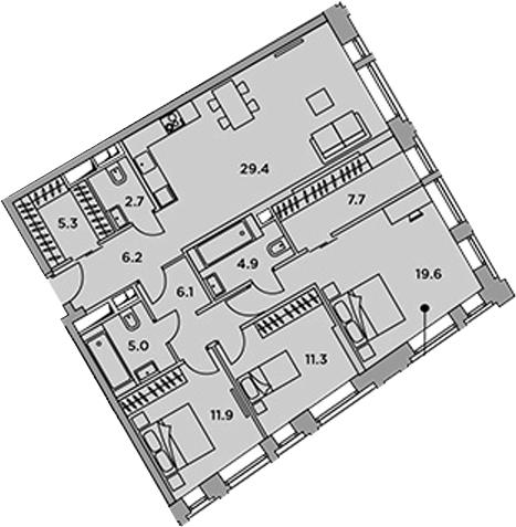 4-к.кв (евро), 110.1 м²