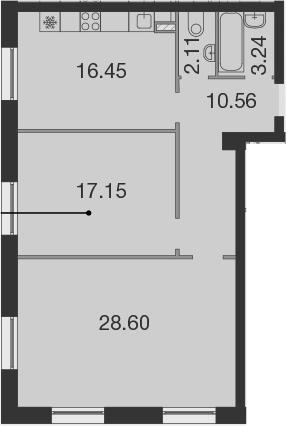 3Е-к.кв, 78.1 м²