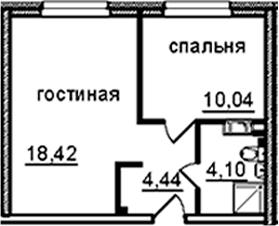 2Е-к.кв, 37 м², от 8 этажа